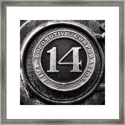 Shay 14 Lima Locomotive Number Plate Framed Print by Ken Smith