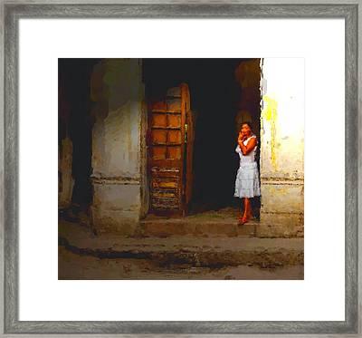 She Beckons Framed Print
