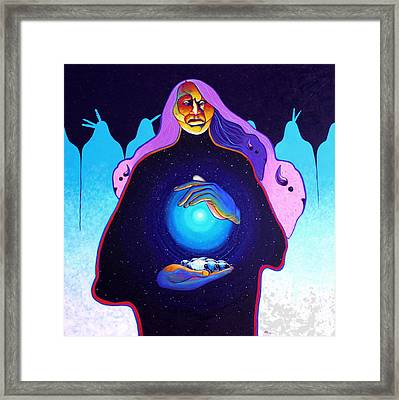 She Carries The Spirit Framed Print by Joe  Triano