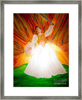 She Carries Victory Framed Print by Michelle Bentham
