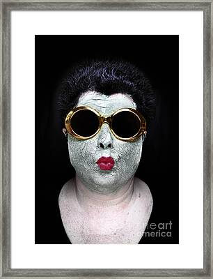 She Couldnt Achieve Her Glam Looks Without A Battery Of Beauty  Framed Print by Amy Cicconi