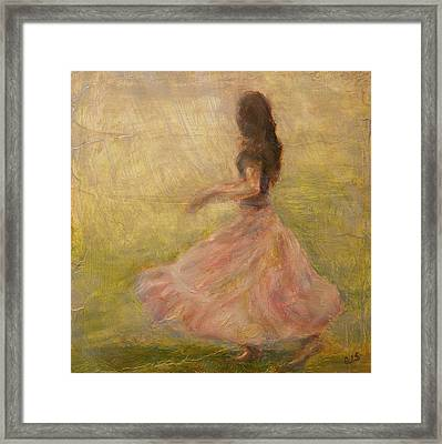 She Dances With The Rain Framed Print