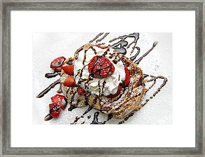 She Dreams In Chocolate And Strawberries Framed Print