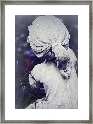 She Dreams Of Angels... Framed Print by The Art Of Marilyn Ridoutt-Greene