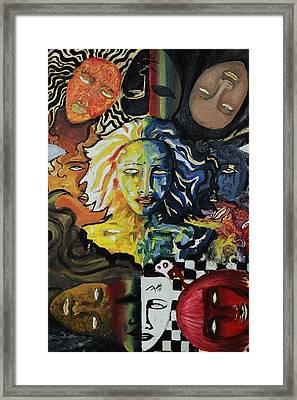 She Faces Framed Print by Furqi Faiq