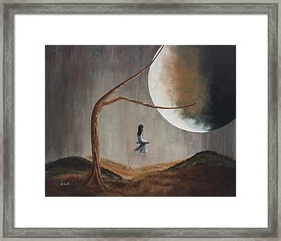 She Feels Memories By Shawna Erback Framed Print by Shawna Erback