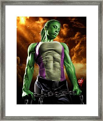 She-hulk 2 Framed Print by Pete Tapang