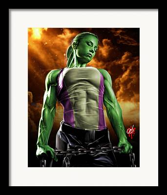 Bruce Banner Drawings Framed Prints