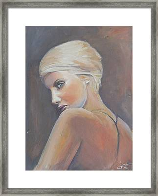 She...... In Colors Framed Print by Jovica Kostic