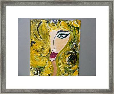 She Insists Framed Print by Kim St Clair