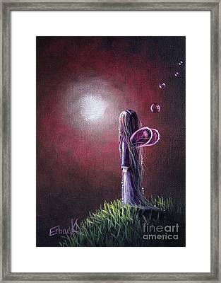 She Is In The Arms Of Heaven By Shawna Erback Framed Print