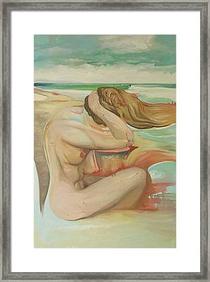 She Is The Sea Framed Print by Joseph Demaree