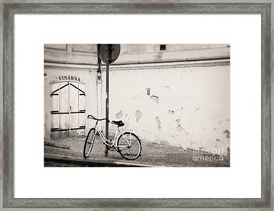 She Is Waiting  Framed Print