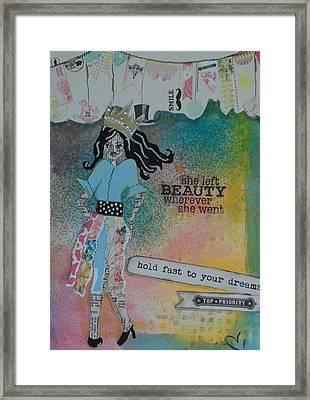 She Left Beauty Framed Print by Debbie Hornsby