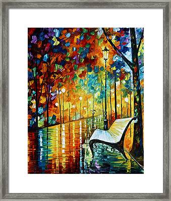 She Left.... New Version Framed Print by Leonid Afremov