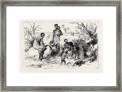 She Lived By An Abyssinian River, Engraving 1884, Slave Framed Print