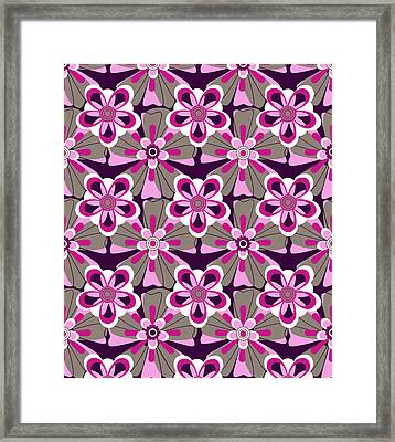 She Loves Me Floral Framed Print