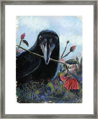 She Loves Me She Loves Me Not Framed Print by Billie Colson