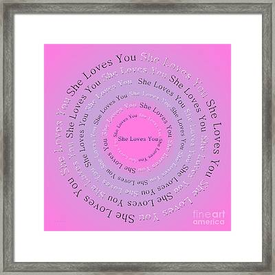 She Loves You 2 Framed Print by Andee Design