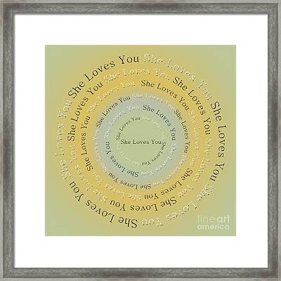 She Loves You 4 Framed Print by Andee Design