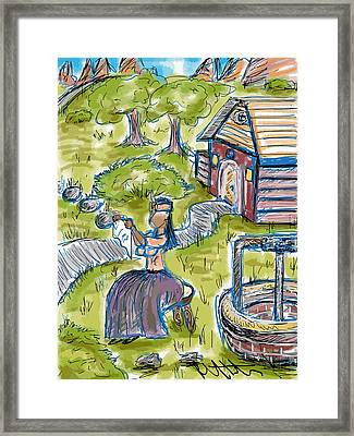 She Made Away Framed Print