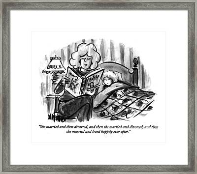 She Married And Then Divorced Framed Print by Warren Miller
