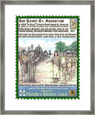 She Saved St Augustine Framed Print by Warren Clark