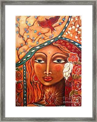 She Sees Framed Print by Maya Telford
