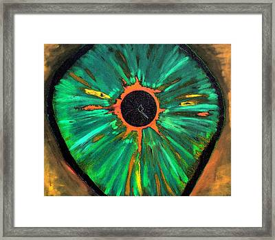 Framed Print featuring the painting She Sees The Truth by Lisa Brandel