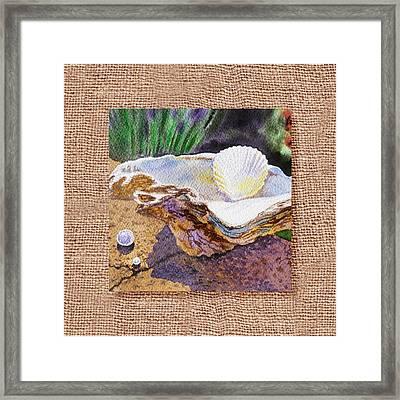 She Sells Sea Shells Decorative Design Framed Print by Irina Sztukowski