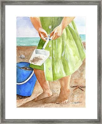 She Sells Sea Shells Framed Print by Sheryl Heatherly Hawkins