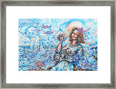 She Sells Seashells By The Seashore Framed Print by Susan Schiffer