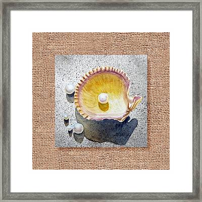 She Sells Seashells Decorative Collage Framed Print by Irina Sztukowski