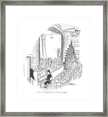 She Started ?apping Them - And They Worked! Framed Print by  Alain