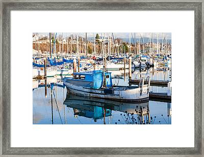 She Still Floats Framed Print