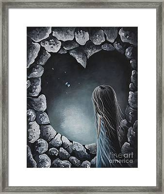 She Talks To Rainbows And Fireflies By Shawna Erback Framed Print by Shawna Erback