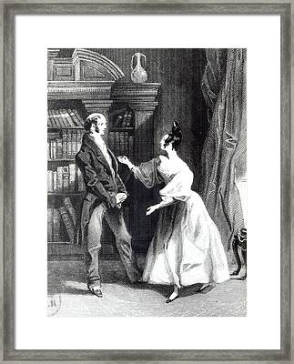 She Then Told Him What Mr Darcy Had Voluntarily Done For Lydia Framed Print by William Greatbach