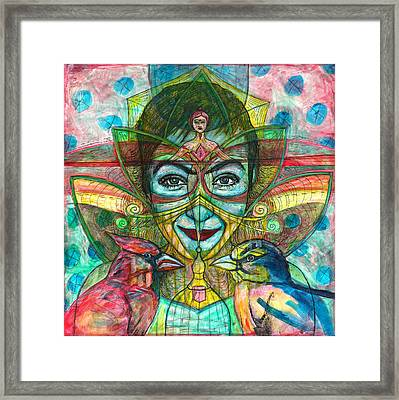 She Thought She Was Small And Trapped But She Was Not Framed Print by Elizabeth D'Angelo