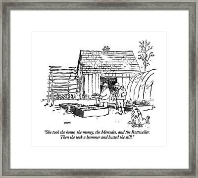 She Took The House Framed Print by George Booth