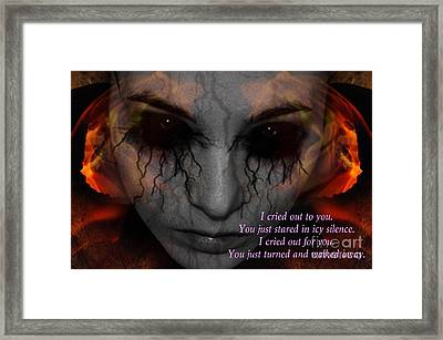 She Turned And Walked Away Framed Print