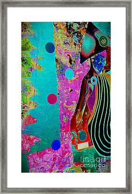 She Waits By The Window Framed Print by Jacqueline McReynolds