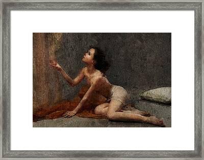 She Waits For Him Framed Print by Georgiana Romanovna