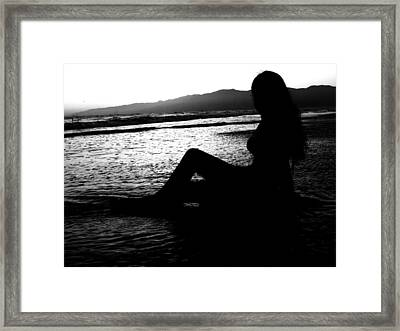 She Waits Framed Print by Misty Herrick