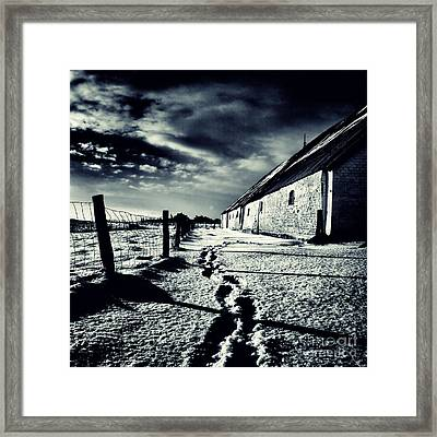 She Walked Away  Framed Print by Stelios Kleanthous