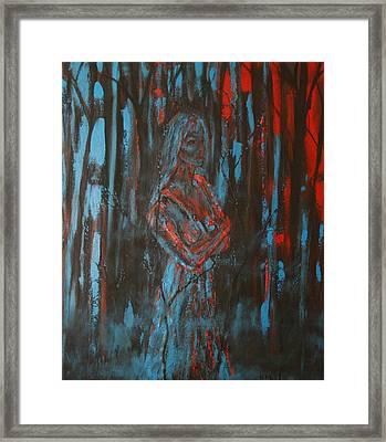 She Walks In Beauty Framed Print by Kathy Peltomaa Lewis