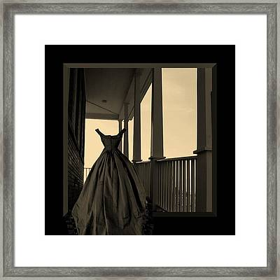 She Walks The Halls Framed Print by Barbara St Jean