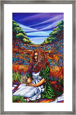 Framed Print featuring the painting She Was... by Greg Skrtic