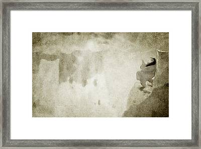 She Watches The Sunrise Framed Print