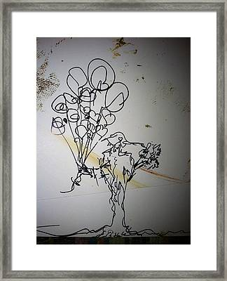 She Wore A Hat To The Party Framed Print