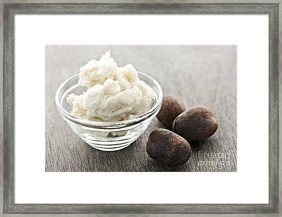 Shea Butter And Nuts  Framed Print by Elena Elisseeva
